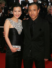 Hao Lei and director Lou Ye at the premiere of
