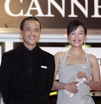 Director Lou Ye and Hao Lei and at the premiere of