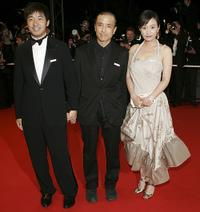 Guo Xiaodong, director Lou Ye and Hao Lei and at the premiere of