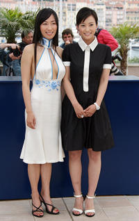 Hu Lingling and Hao Lei at the photocall of