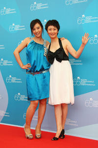 Hao Lei and Zhao Tao at the photocall of