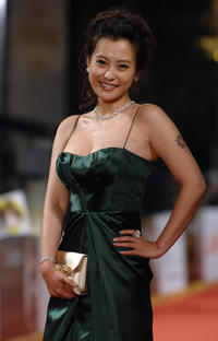 Hao Lei at the Golden Horse Film Awards in Taipei.