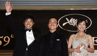 Guo Xiaodong, director Lou Ye and Hao Lei at the premiere of
