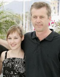 Adelaide Leroux and Bruno Dumont at the photocall of