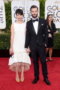 Amelia Warner and Jamie Dornan at the 72nd Annual Golden Globe Awards in California.