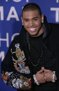 Chris Brown at the World Music Awards.