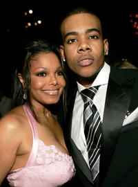 Janet Jackson and Mario at the Clive Davis Annual Grammy party.