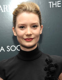 Mia Wasikowska at the New York premiere of