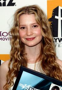 Mia Wasikowska at the Hollywood Film Festival's Gala Ceremony.
