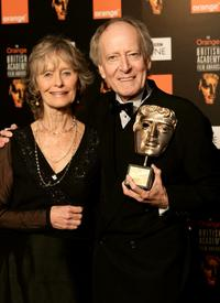 Virginia McKenna at the Orange British Academy Film Awards 2005, presents John Barry with