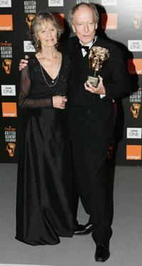 Virginia McKenna and John Barry at the Orange British Academy Film Awards 2005.