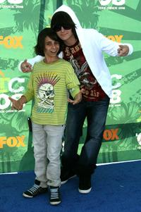 Moises Arias and Mitchel Musso at the 2008 Teen Choice Awards.