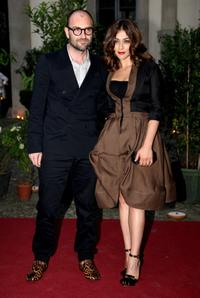 Valentina Lodovini and Guest at the Uomo Vogue 40th Anniversary Celebration Party during the Milan Fashion Week Menswear Spring/Summer 2009.
