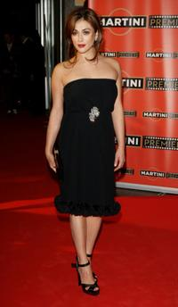 Valentina Lodovini at the Martini Premiere Awards ceremony.