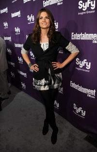 Stana Katic at the EW and SyFy party during the Comic-Con 2010.