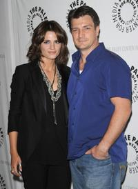 Stana Katic and Nathan Fillion at the Paley presentation of