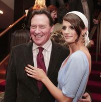 Producer Gary Lucchesi and Stana Katic at the premiere of