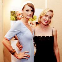 Stana Katic and Radha Mitchell at the premiere of
