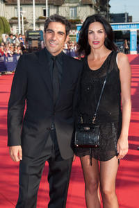 Ary Abittan and Helena Noguerra at the opening ceremony of the 38th Deauville American Film Festival.
