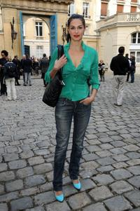 Helena Noguerra at the Vivienne Westwood Pret a Porter show during the Paris Womenswear Fashion Week Spring/Summer 2010.