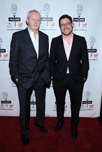 David Morse and Rich Sommer at the 28th Annual Lucille Lortel Awards.