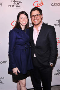 Virginia Sommer and Rich Sommer at the premiere of