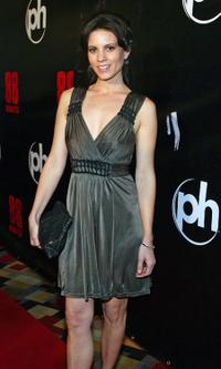 Leah Cairns at the world premiere of