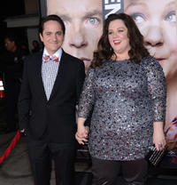 Ben Falcone and Melissa McCarthy at the California premiere of
