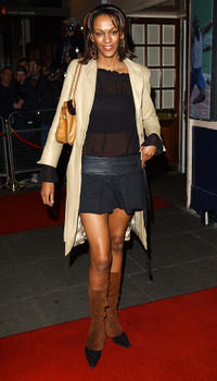 Judi Shekoni at the British television show GMTV's 10th birthday celebration in London.