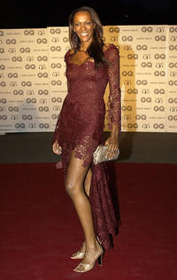 Judi Shekoni at the GQ Magazine Man Of The Year Awards in London.