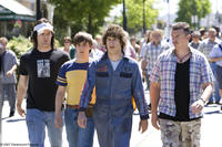 Dave (Bill Hader), Kevin Powell (Jorma Taccone), Rod Kimble (Andy Samberg) and Rico (Danny McBride) in