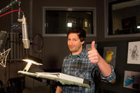 Andy Samberg on the set of