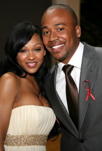 Actors Columbus Short and Meagan Good during the 38th annual NAACP Image Awards in L.A.