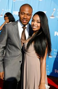 Columbus Short and guest at the 38th annual NAACP Image Awards.