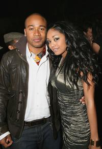 Columbus Short and Tanee McCall at the after party premiere of