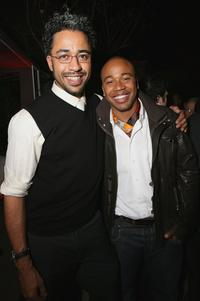 Sylvain White and Columbus Short at the after party premiere of