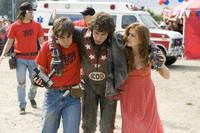 Jorma Taccone, Andy Samberg and Isla Fisher in