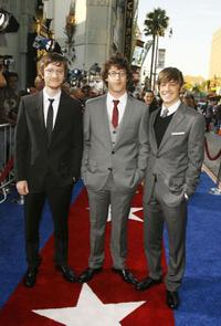 Avika Schaffer, Andy Samberg and Jorma Taccone at the premiere of