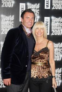 Julian McMahon and Melissa Corken at the Pre-party of World Music Awards.