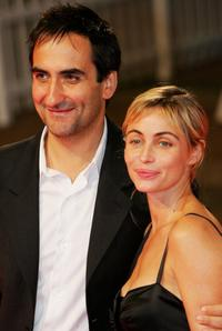 Emmanuelle Beart and Manuel Pradal at the premiere of