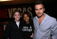 Kyle Gallner, Regina Hall and Director Ariel Vromen at the Filmmaker Happy Hour.