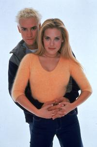 Mark Paul Gosselaar and Mercedes McNab at the portrait session for the television series