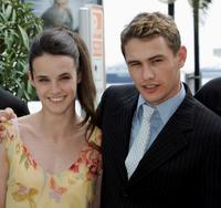Jennifer Decker and James Franco at the photocall of