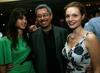 Jennifer Decker, Dean Devlin and Lisa Brenner at the after party of the special screening of