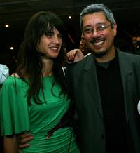 Jennifer Decker and Dean Devlin at the after party of the special screening of