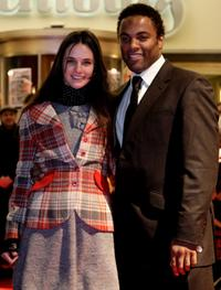 Jennifer Decker and Ray Fearon at the premiere of