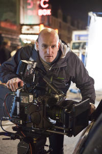 Director Michael Sucsy on the set of
