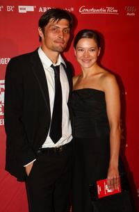 Stipe Erceg and Hannah Herzsprung at the Berlin premiere of