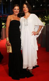 Hannah Herzsprung and Jana Pallaske at the premiere of
