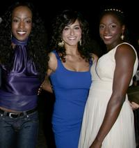 Tre Armstrong, Romina D'Ugo and Rutina Wesley at the premiere of